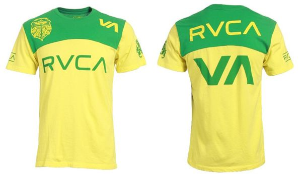 RVCA Vitor Belfort XL t shirt NWT UFC Fighter Brazilian flag design