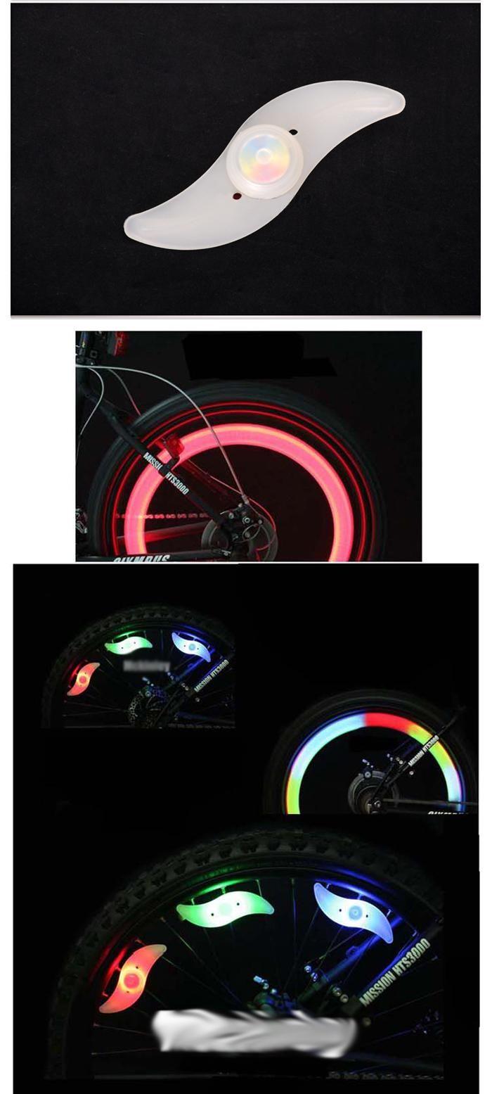 Motorcycle Bicycle Bike Cycling Flash Tire Wheel Spoke LED Light Lamp
