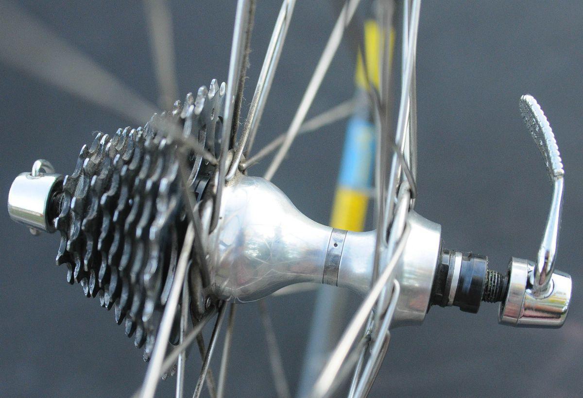 Road Bicycle Vintage Wheel Set Campagnolo Hubs Mavic Rims