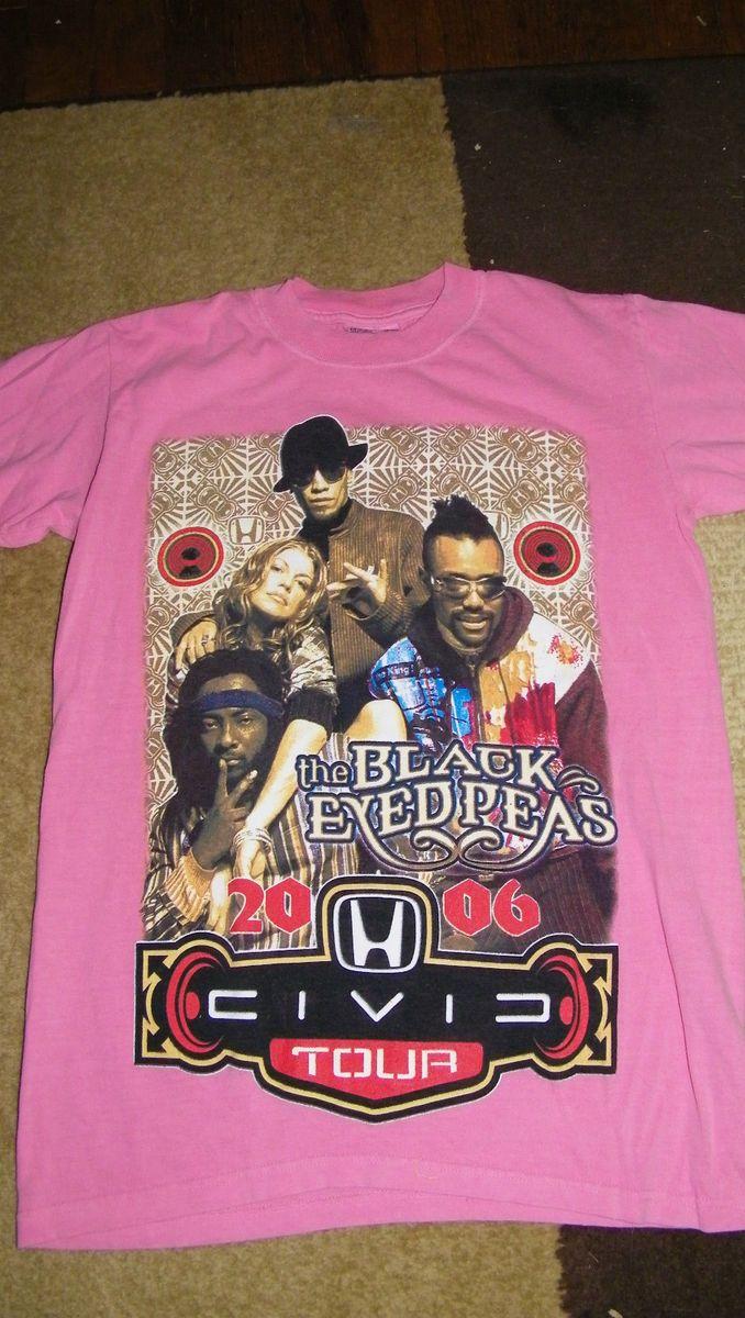Black Eyed Peas Fergie Tour T Shirt Top Size M Pink 2006 Civic Tour