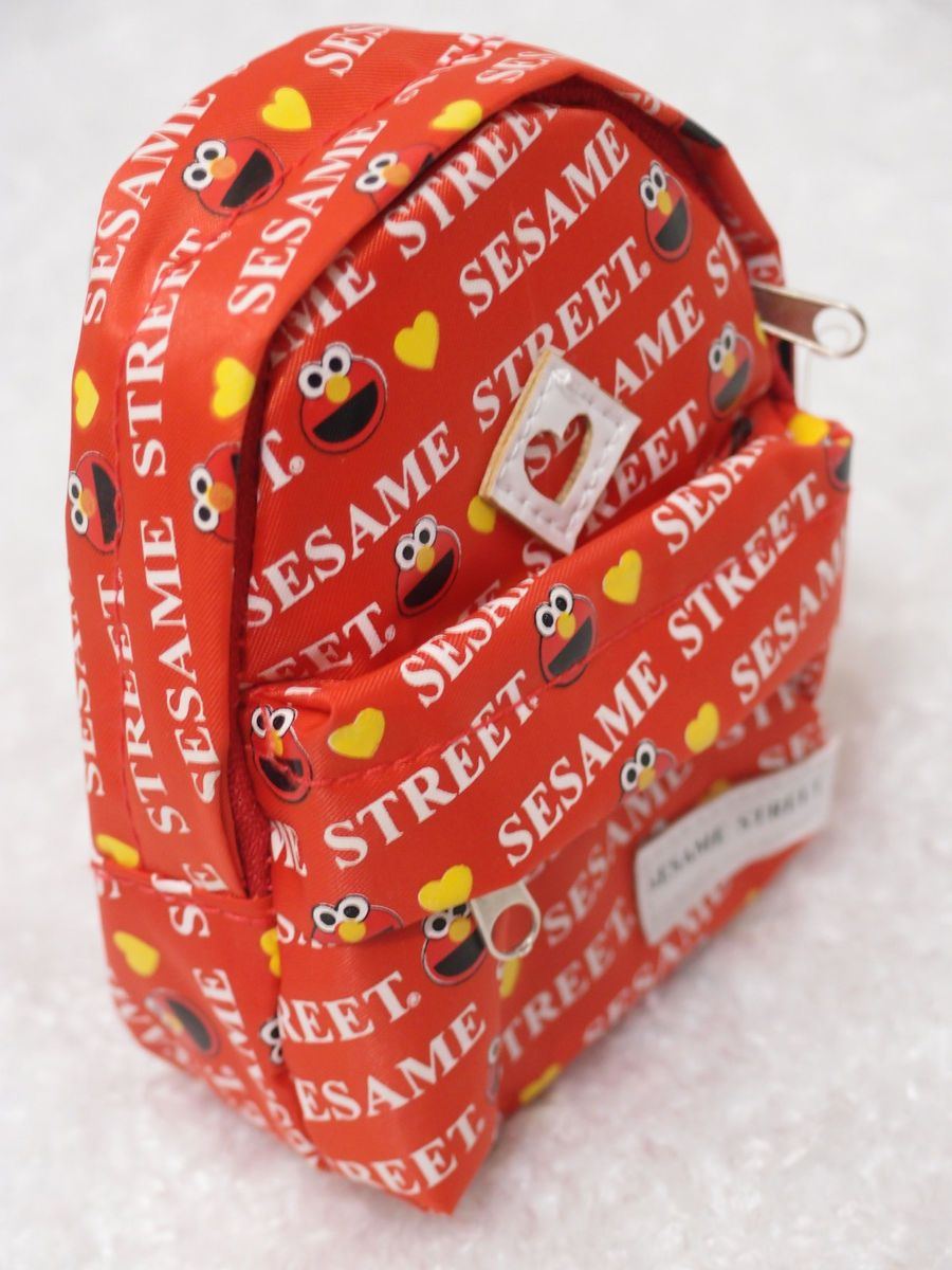 Sesame Street Elmo Birthday Plush Toy Backpack USB Card Coin Bag Purse