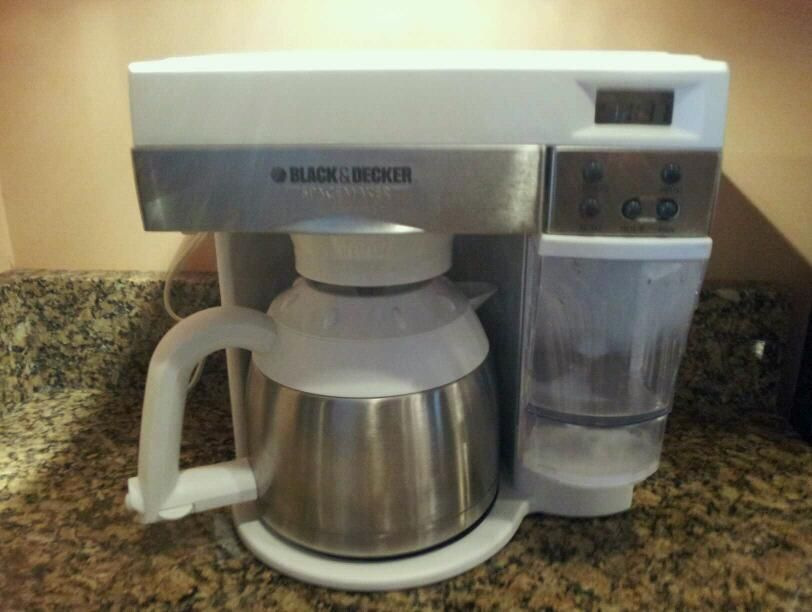 Black And Decker Spacemaker Coffee Maker White : Black & Decker Spacemaker Thermal Coffee Maker ODC 425 10 Cup WHITE
