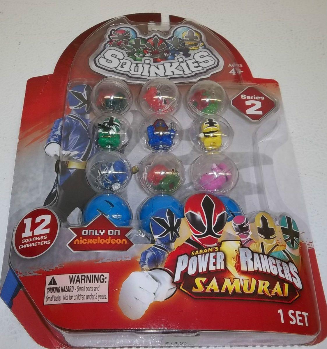 2012 Blip Toys Squinkies Power Rangers Samurai Series 2 Set of 12