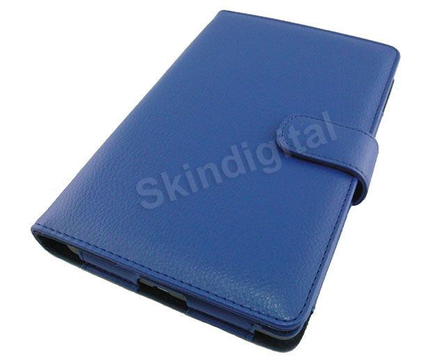 For Nook Tablet Nook Color Blue Leather Case Cover Jacket Screen Guard