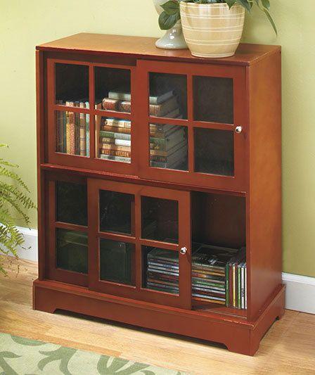 light brown natural sliding door media cabinet furniture w g