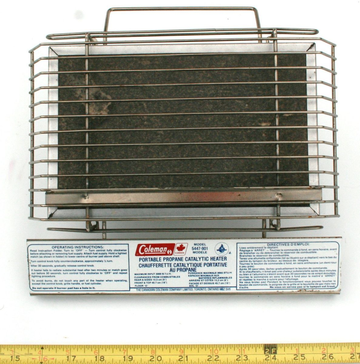Coleman Catalytic Heater Portable Propane Camping Model 5447 901