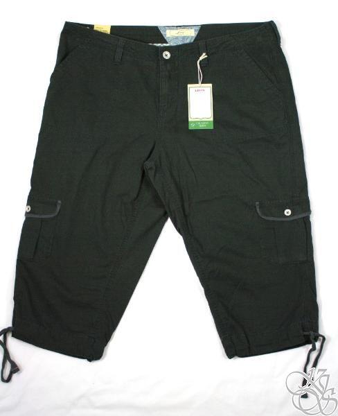 Levis Jeans Plus Size Capitola Cargo Capri Pants New