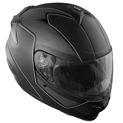 Kali Naza Carbon Fiber Darkness Full Face Motorcycle Helmet Black