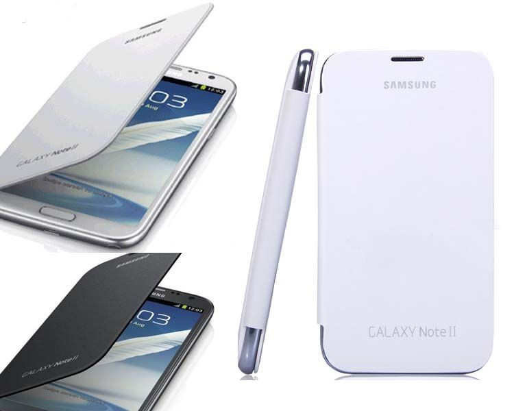 Luxury Leather Flip Case Stand Cover for Samsung Galaxy Note 2 II
