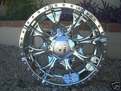 16 Inch CHROME WHEELS Rims Chevy Dodge RAM 8 Lug Truck NEW Helo Maxx