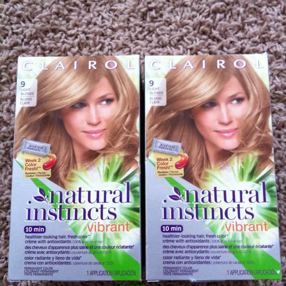 Clairol Natural Instincts 9 Vibrant Hair Color Hair Dye Light Blonde
