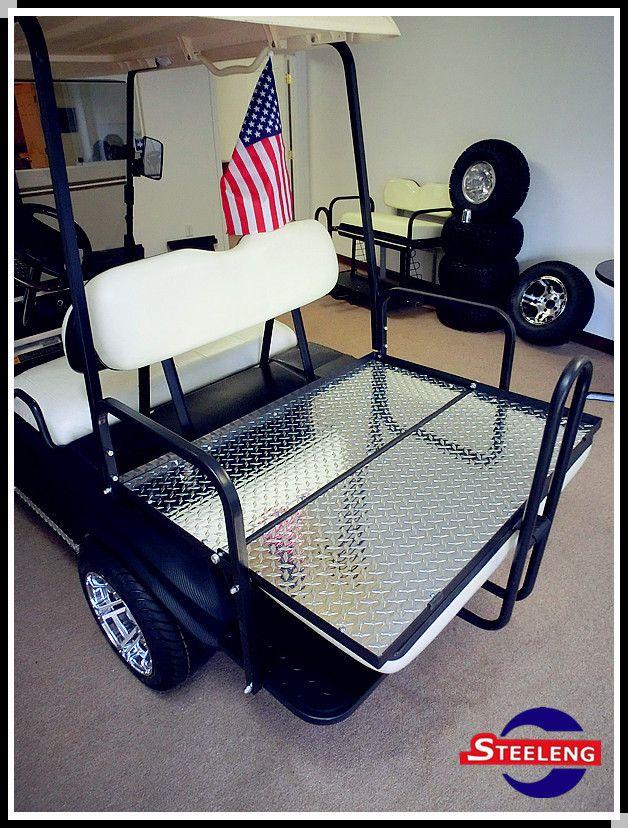 Duty Rear Flip Seat Kit for Club Car Golf Cart DS Model White