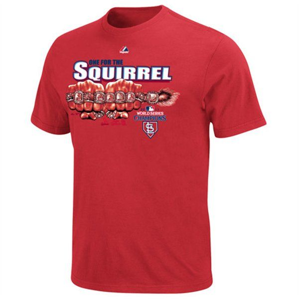 Cardinals One for the Squirrel 2011 World Series Rings T Shirt sz S