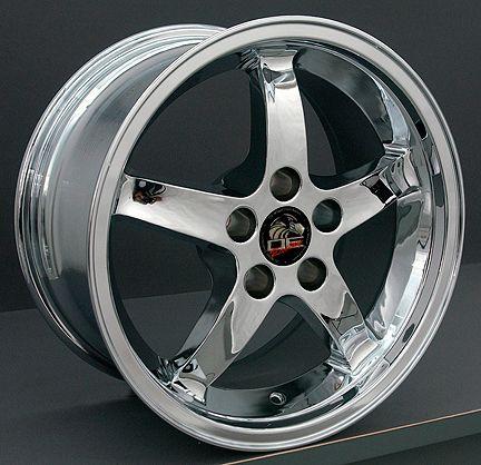 17 9/10.5 Chrome Cobra Wheels Rims Fit Mustang® GT 94 04