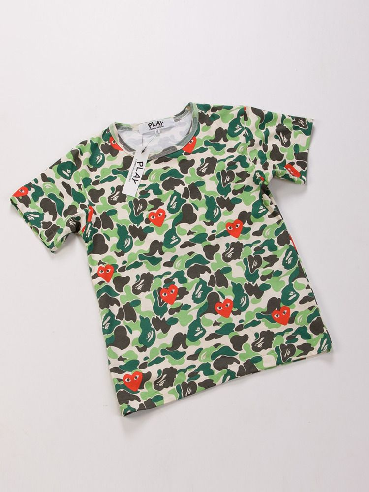 Comme Des Garcons Play x A Bathing Ape Male Tee Pattern Painting s for