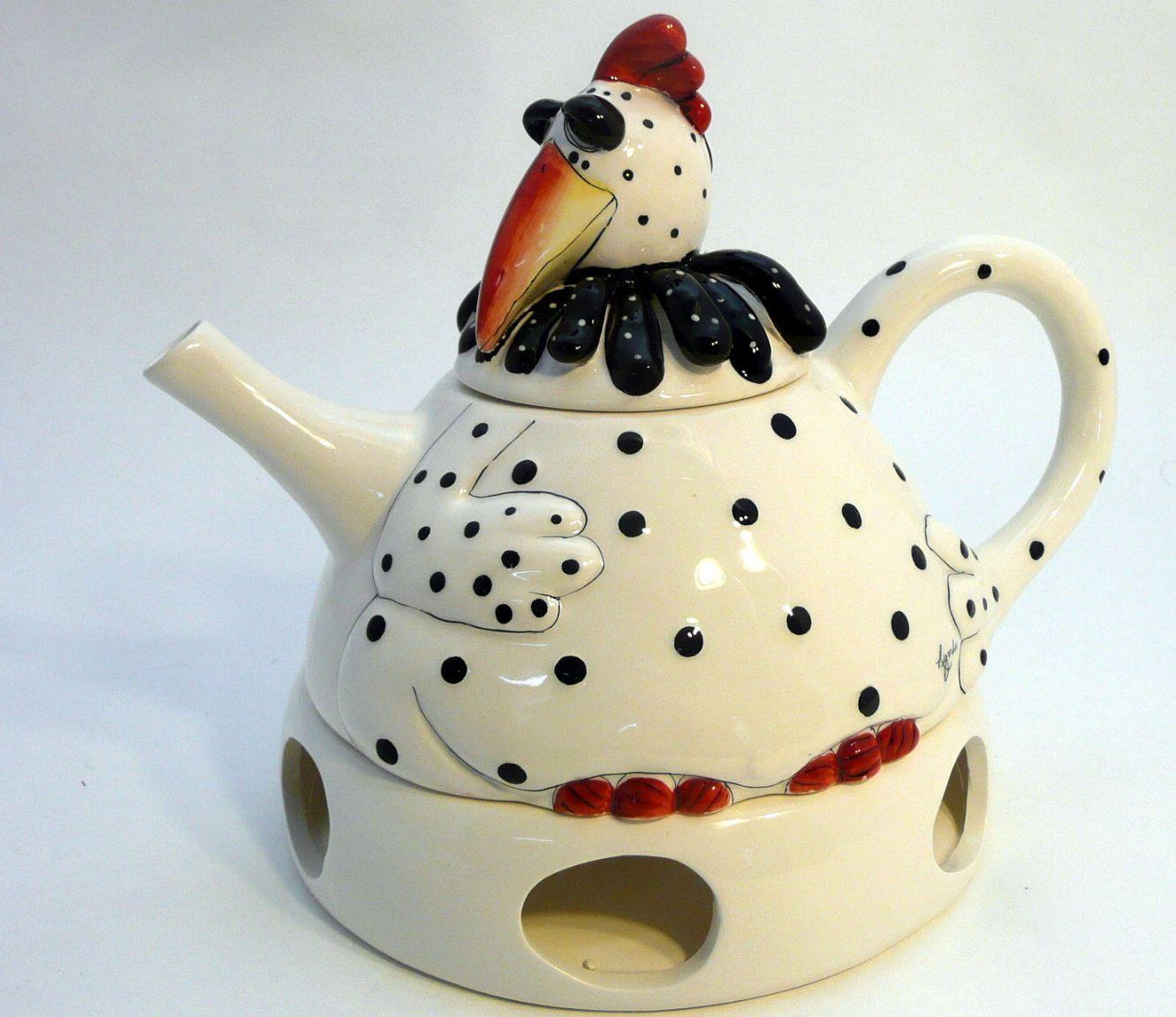 Pekinese Teapot Blue Sky Ceramics Lynda Corneille