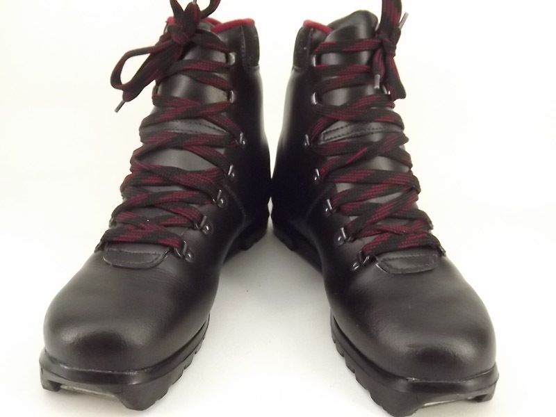 Mens cross country ski boot black leather Artex Teton 41 7 M telemark