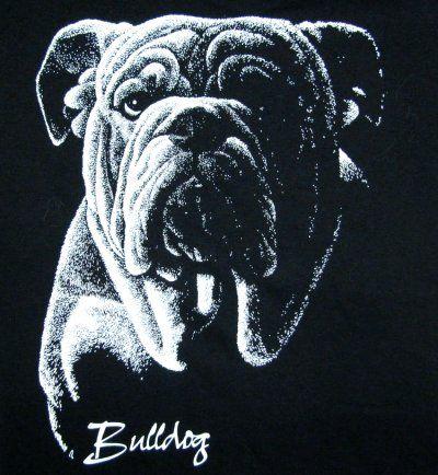 Bulldog Custom Art Dog Design Sweatshirt T Shirt W732
