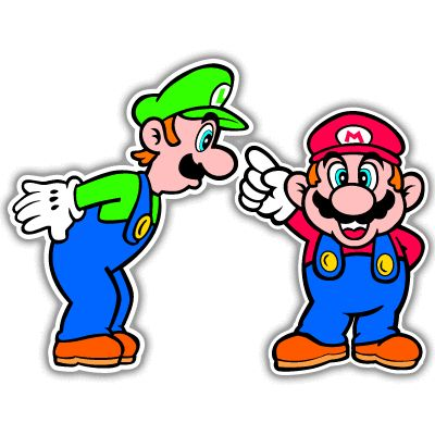 Super Mario Luigi Video Game Arcade Car Sticker 6 x 5