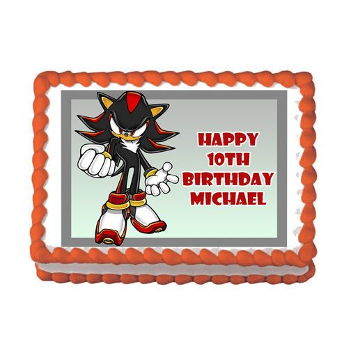 Shadow The Hedgehog 2 Wii DS Game Edible Birthday Party Cake