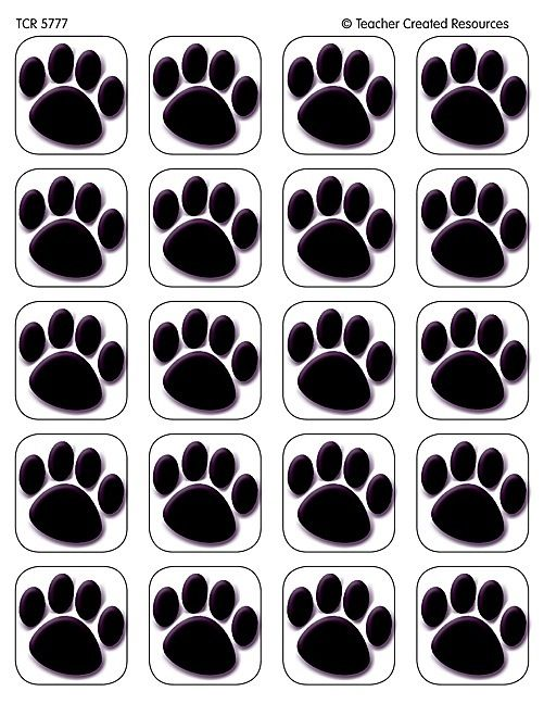 120 Black Paw Prints Stickers Cats Dogs Paws New