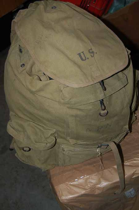 WWII US Army Airborne Mountain Troops Rucksack Early