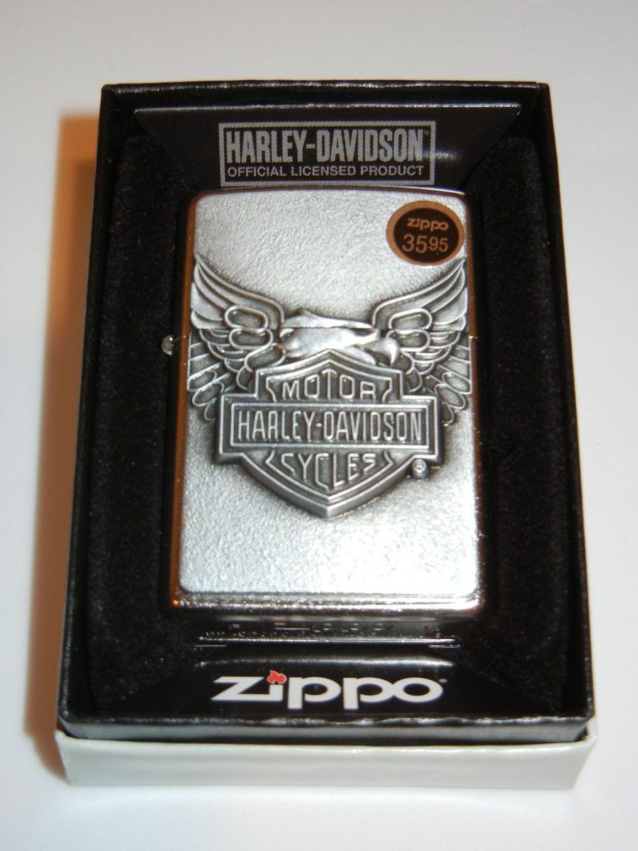 Brand New Zippo Lighter in Box Model 20230 Harley Davidson Iron Eagle