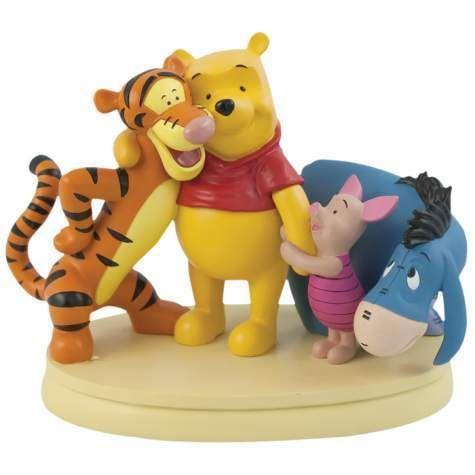 the Pooh BEST FRIENDS Figurine Tigger Piglet Eeyore Hugging Group Hug