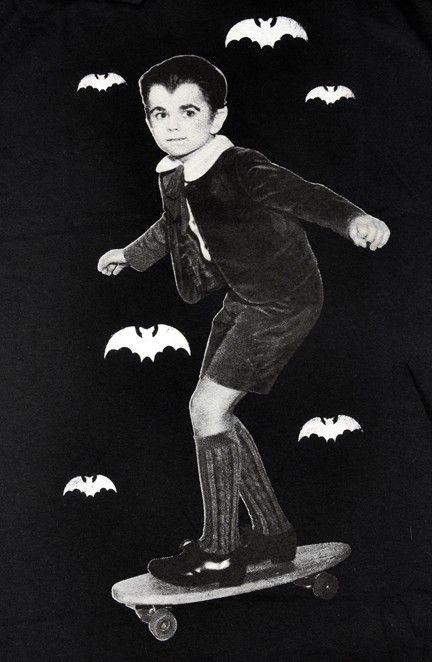 Eddie Munster Mens T Shirt Goth Vampire Bat Halloween