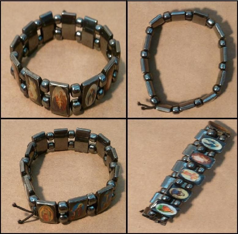 Male Rosary Christian Gift Faith Jewelry Bangle Cross Cuff Cool