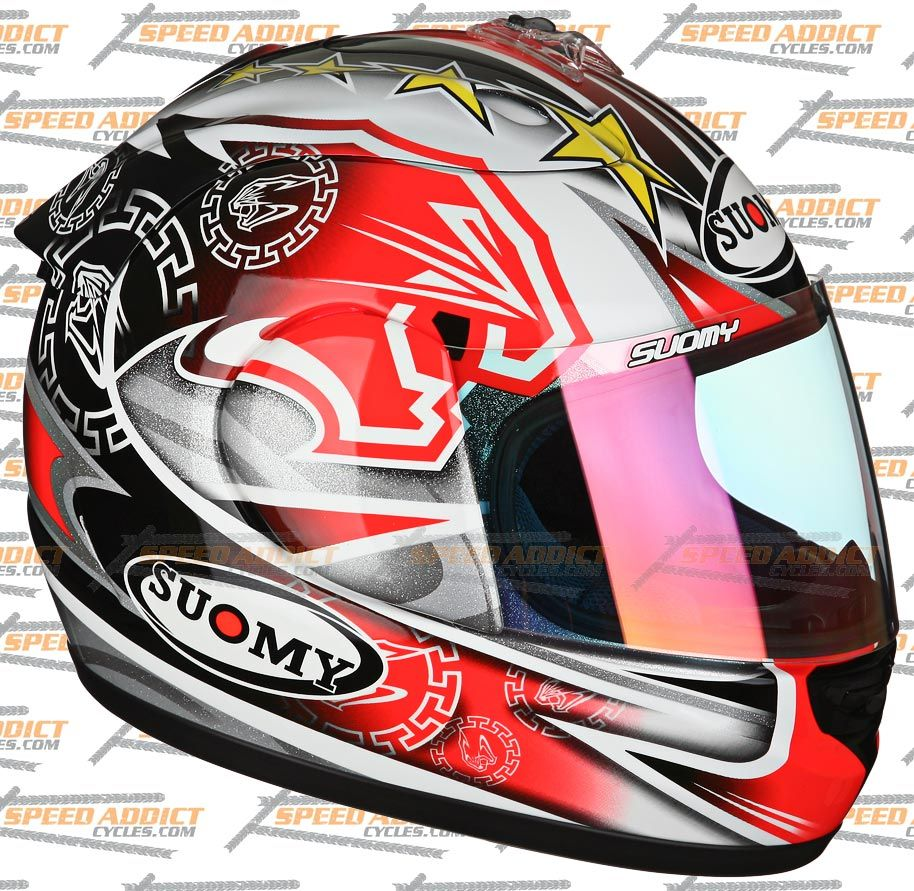 Suomy Spec 1R Extreme Excel BIAGGI Full Face Motorcycle Helmet x Small
