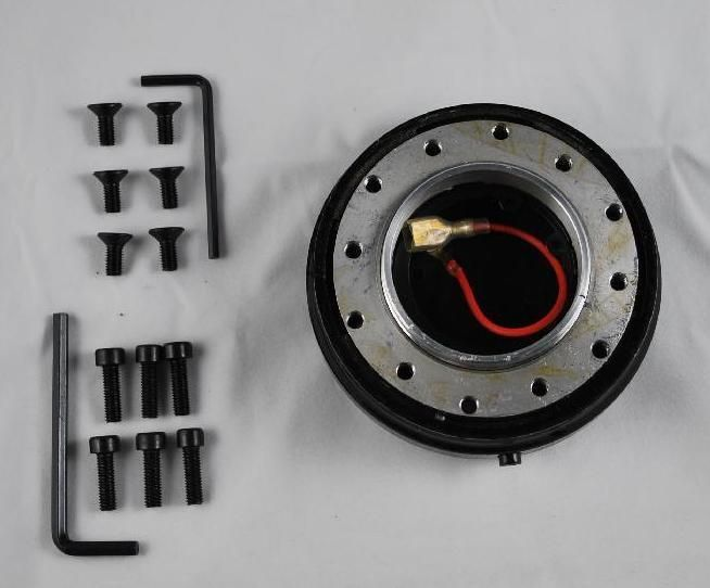 SLIM 1 5 6 BOLT HOLE QUICK RELEASE STEERING WHEEL ADAPTER