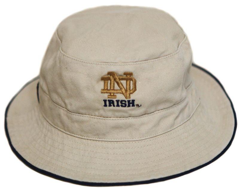 Notre Dame Fighting Irish Khaki Bucket Fishing Hat