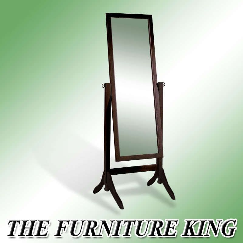 Finish Wood Full Length Free Self Standing Floor Mirror