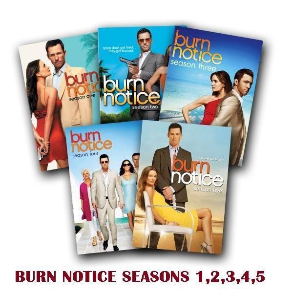 Burn Notice DVD SET SEASONS 1 5 COMPLETE. NEW FACTORY SEALED. FREE