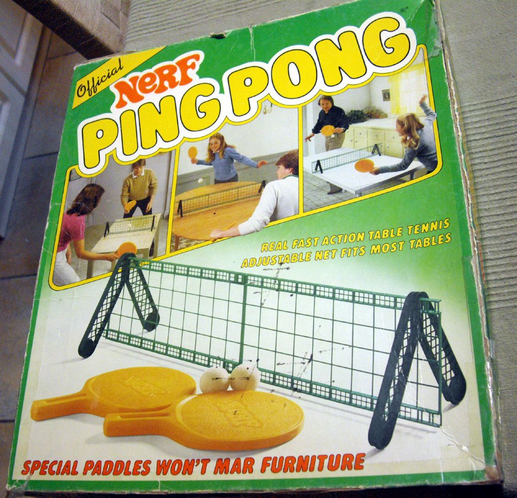 Nerf Ping Pong Board Game Sports Table Tennis