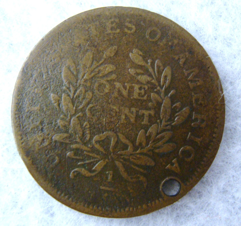 Antique 1783 George Washington 1 Cent Copper Colonial Coin
