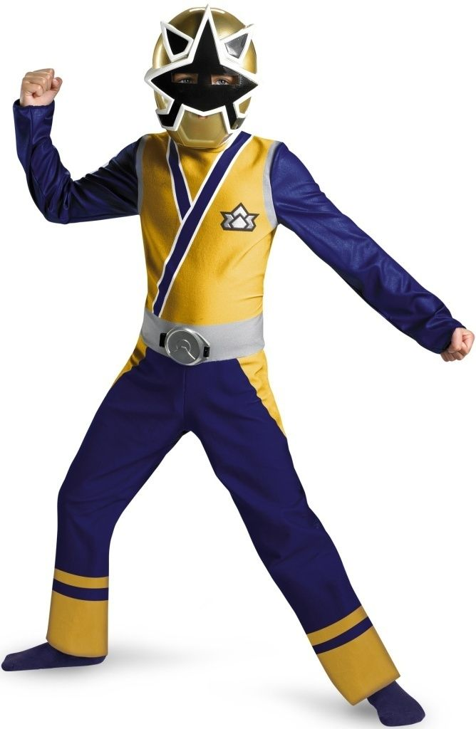 Sabans Power Rangers Gold Ranger Samurai Childs Halloween Costume