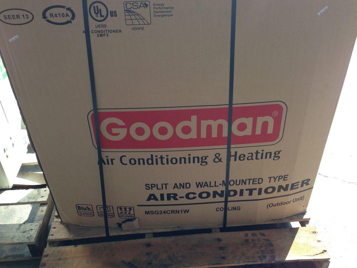 24 000 BTU Goodman Air Conditioner R 410A Mini Split Outside Unit Only