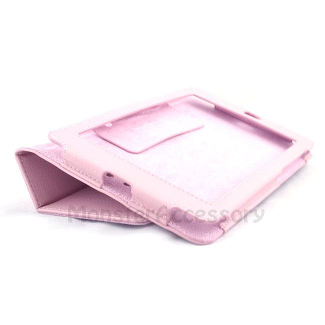 Pink Leather Skin Case Cover with Stand for Google Nexus 7