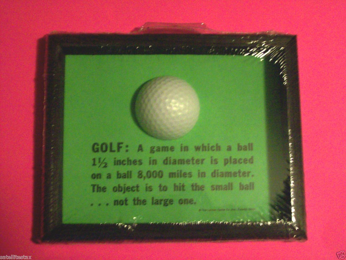 Golf Golf Plaque Small Sign Great Golfers Gift Gag Gifts Vintage L K