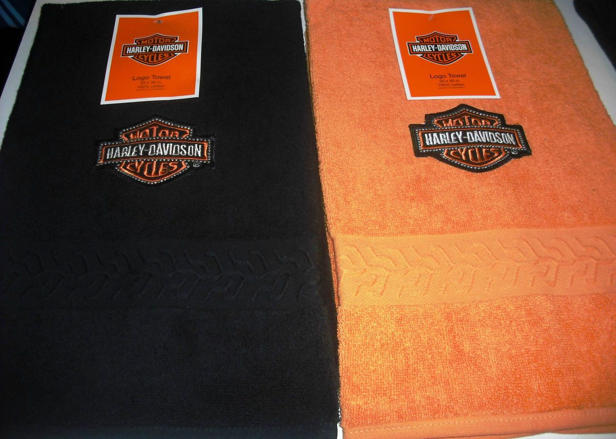Harley Davidson Towel Bathroom Bedroom Golf Motorcyles Home Decor