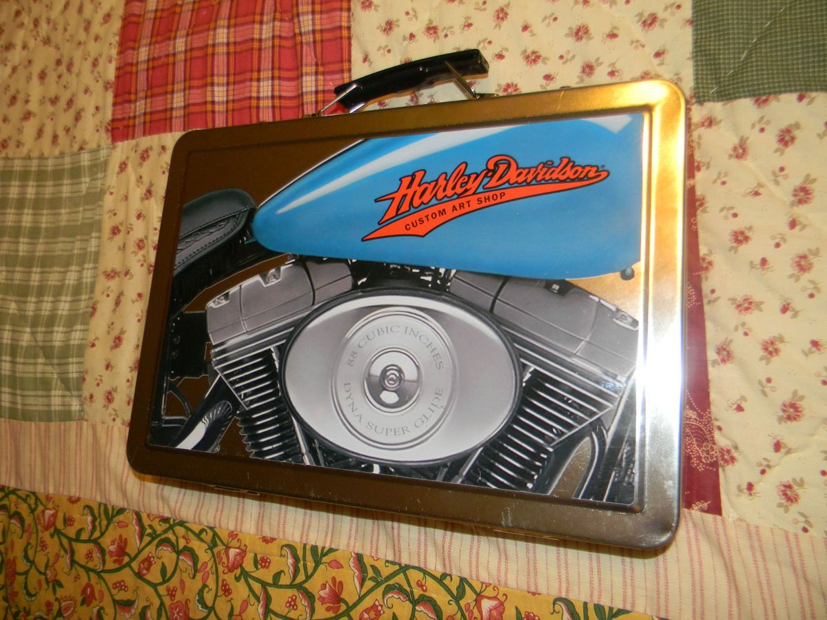 harley davidson custom art shop kit collectors tin case paint pencils