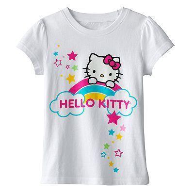 Hello Kitty Girls White Short Sleeve Tee Shirt $20
