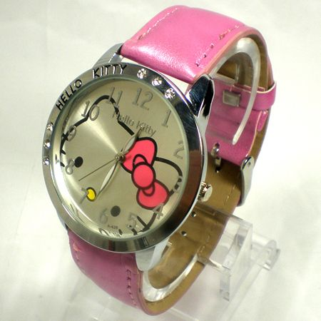 Cute Hello Kitty Watch Lovely Big Dial watches Ladies Quartz