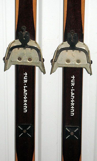 Vintage Holmenkollen Wooden Cross Country Skis 180cm Norway Excellent