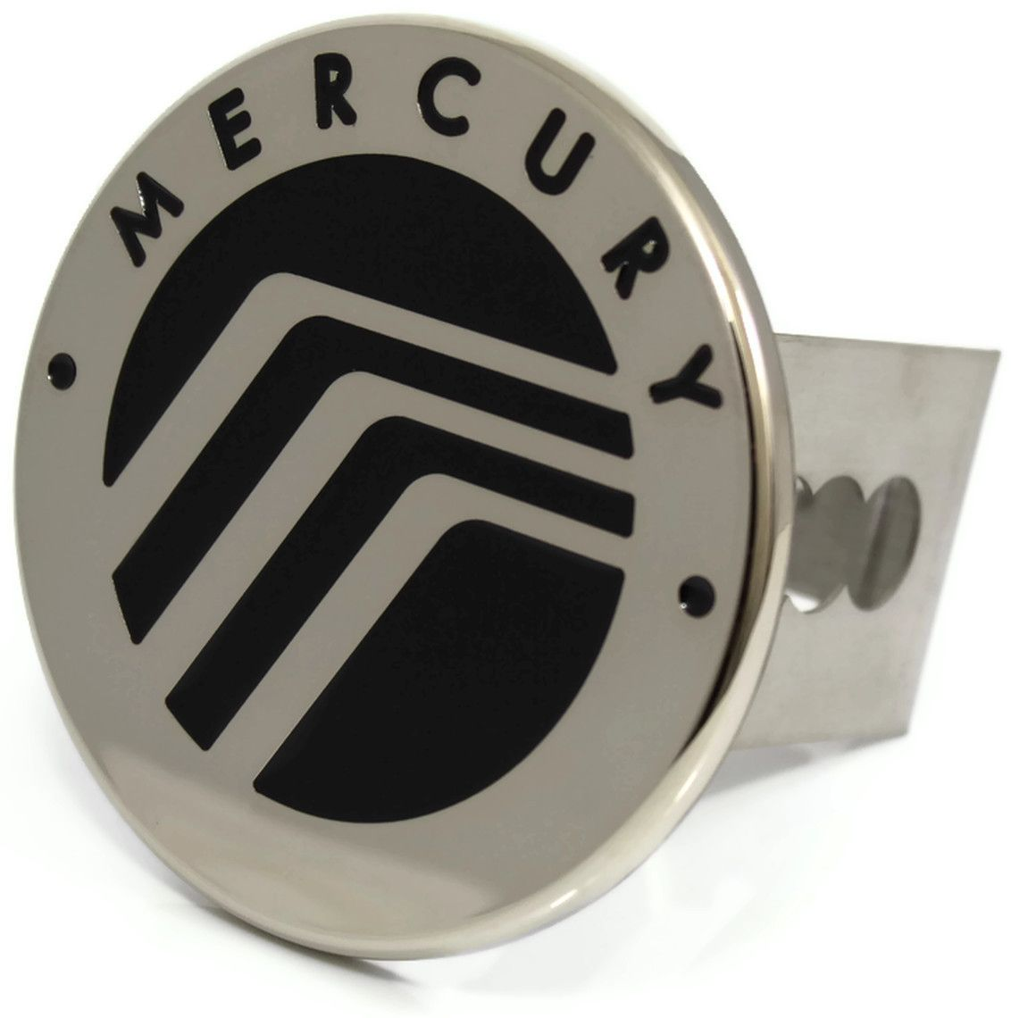 Black Mercury Logo Hitch Cover 2 Hitch Receivers Cover Plug Stainless
