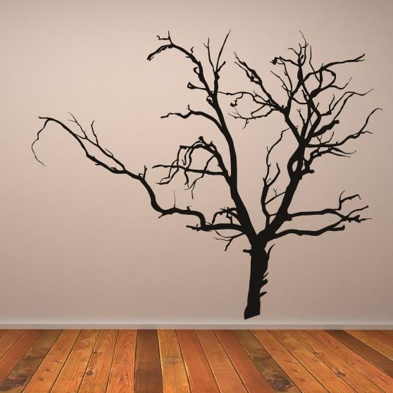 Scary Bare Tree Wall Stickers Kids Bedroom Monsters Wall Art Decal