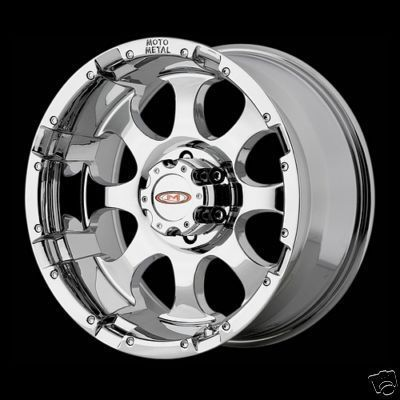Inch Chrome 8 lug MO955 WHEELS Chevy Silverado Dodge Ram Ford GMC RIMS