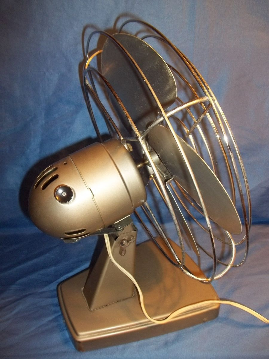 Vintage Metal Industrial Decor Electric Fans  Kenmore Cinni Both